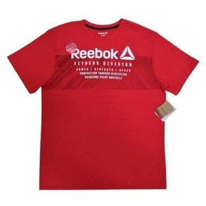 NWT Reebok Mens Crew Neck T-Shirt Size L Red